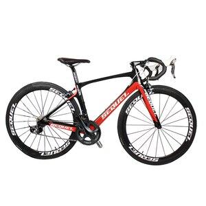 2016 نموذج جديد رقائق الكربون الدراجة الطريق دراجة كاملة completo الدراجة 5800/6800 groupset مع جميع أجزاء حر ems الشحن