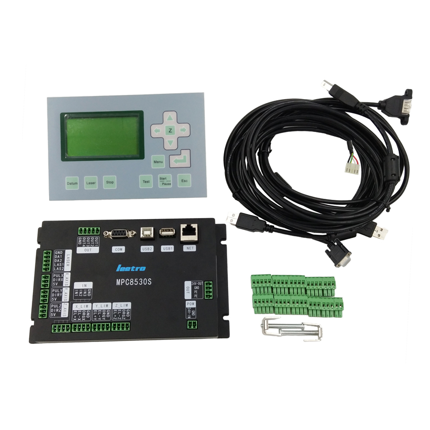 High quality 3 axis motion controller system laser cut 61 Leetro MPC6585 update to MPC8530S