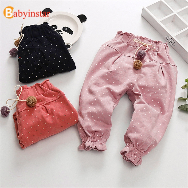 Babyinstar Baby Girls Pants Kids Trousers Children Star Print Pencil Toddler Clothing