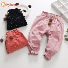 Babyinstar Baby Girls Pants Kids Trousers Children Star Print Pencil Toddler Clothing
