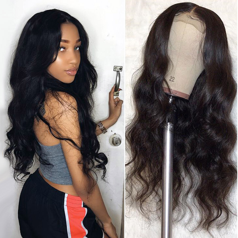 Brazilian Body Wave Wigs For Black Women Lace Front Human Hair Wigs Pre Plucked With Baby