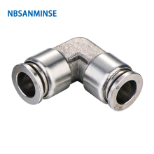 10Pcs/lot SSPUL06 SS316L Fittings Outside Diameter 06 Pneumatic Pipe Fitting(SS316L) Tube Connector