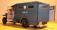 1:25 DIY Paper Model Polish Bank Ambulance Cws T 1 1930 Boy Gift Papercraft 3D Puzzle