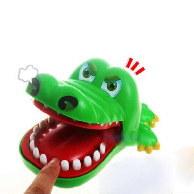 Funny Trick Cartoon Crocodile Toys Mouth Dentist Bite Finger Game Gags Novelty Family Game Toy For Kids Children