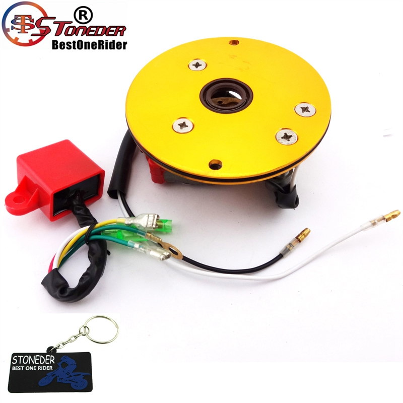 STONEDER Racing Magneto Stator Rotor Ignition CDI Box For 110cc 125cc 140cc Engine Chinese Lifan YX