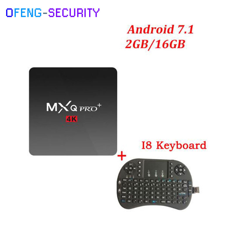 MXQPRO 4K (RK3229) con teclado 2 + 16g inteligente tv Convertidor Quad-core set top box Android 7,1 kodi 1 GB/2 GB 8 GB/16 GB HD