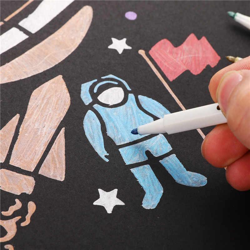 10 colores profesional Manga Anime arte marcadores Graffiti artístico pincel rotuladores metálicos para dibujar material escolar de oficina