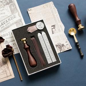 Image 5 - Retro luksusowa kreatywność farba wosk zestaw DIY Handmade wstążka etykieta śliczne koperty znaczki pieczęć na zaproszenie na ślub prezent dekoracji