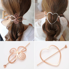 New Hot Sale Simple Hairpins hair fork Metal Chinese hairclips Ponytail simple hollow Accessories Headwear