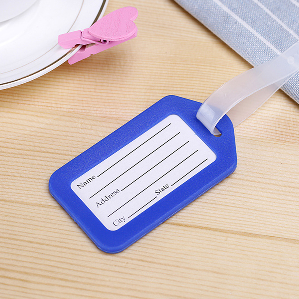 PVC Travel Luggage Bag Tag Address ID Label Suitcase Baggage Tags(China)