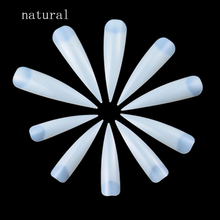 100Pcs/Lot Nails Salon Stiletto Long False Fake Tips Manicure Artificial White/ Clear /Natural Full Cover