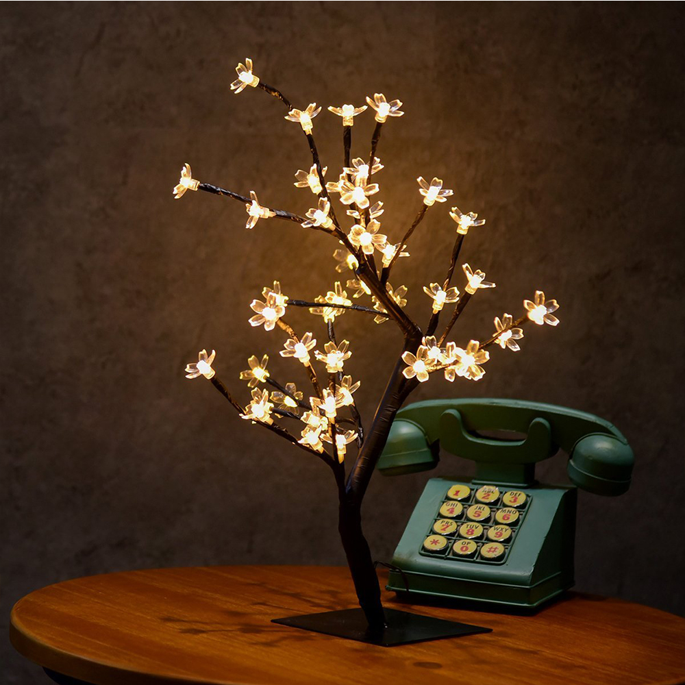 Switch kontrol Tree Bright LED Cherry Lamp 48 Blomster Cherry Tree - Ferie belysning - Foto 3