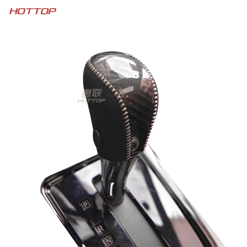 Special Carbon Hand-stitched Black Leather Gear Shift Knob hand Brake Cover case for Nissan Tiida Teana Qashqai X-trail Sunny gear shift