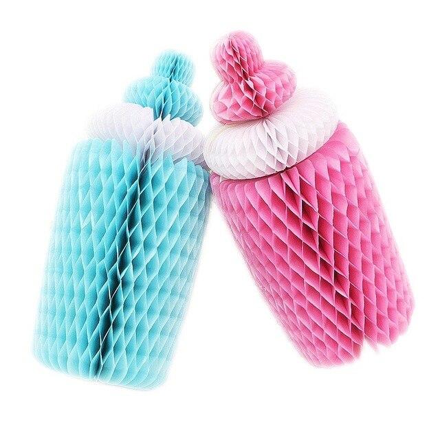 Big 1pc Pinkblue Cute Honeycomb Baby Bottle Nursing Bottle Paper