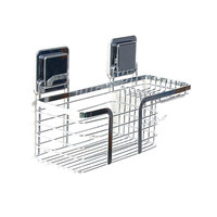Stainless Steel Bath Shampoo Holder Shower Basket Shelves with Soap Dishes Hooks Bathroom Accessories MYDING
