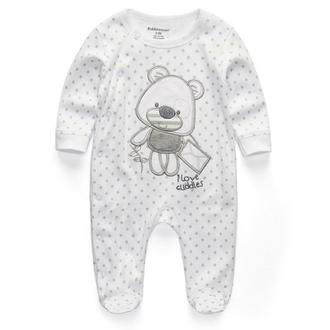 New 2019 Cute Baby Jumpsuit Comfortable Clothing Long Sleeve Baby Girl Clothes Cotton Baby Rompers Roupas de bebe Boy Clothes Islamabad