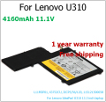 new L11M3P01 4160mAh laptop battery for lenovo L11M3P01, 43752CU, 3ICP5/56/120, 11S121500058 IdeaPad U310 13.3 inch laptop