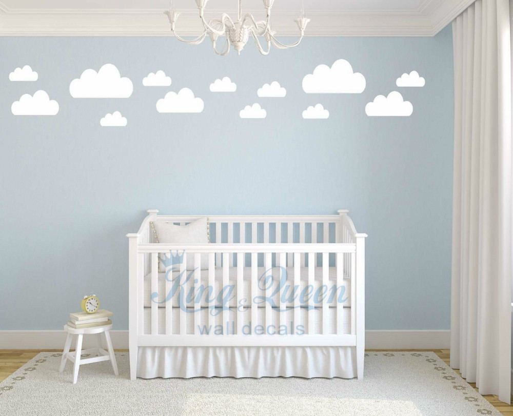 13 clouds decal vinyl wall sticker baby nursery kids childrens bedroom wall art home decor decorations bedroom furniture sticker style