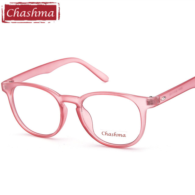 b00c5c85ee Chashma Brand New Korea Star Men and Women Round Optical Eyewear Pink Myopia  Glasses Frame