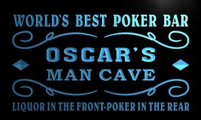 x0151-tm Oscars Man Cave Poker Room Custom Personalized Name Neon Sign Wholesale Dropshipping On/Off Switch 7 Colors DHL