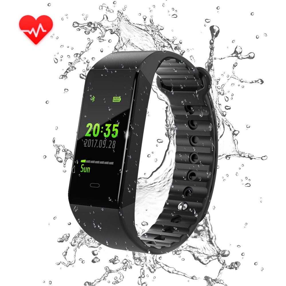 W6S Smart Bracelets WeChat Connected Waterproof Wear Swimming Cycling Sports Model Shows More Depth