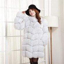 2016 Luxury Lady Genuine Real Fox Fur Coat Jacket Winter Women s Fur Trench Outerwear Coats