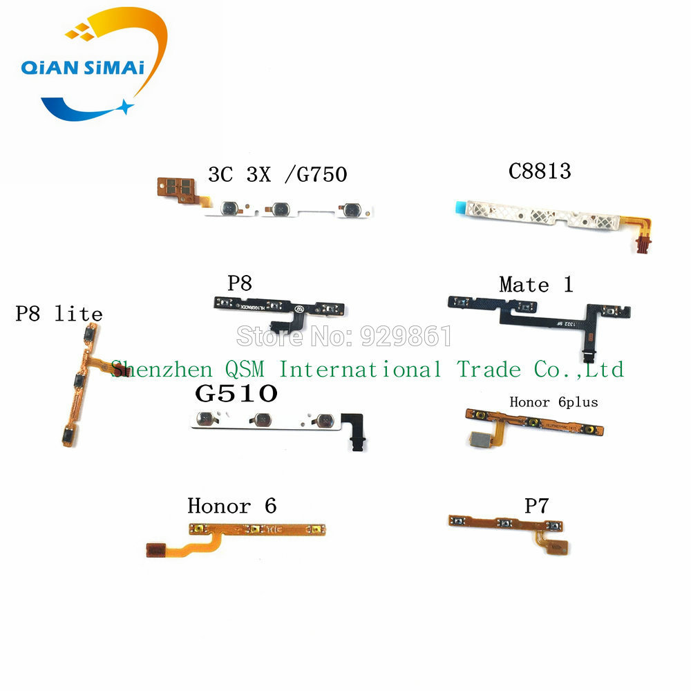 hight resolution of qian simai new side power on off button volume flex cable fpc for huawei honor 3c g510 p7 p8 p8lite honor 6 6plus c8813 mate 1 in mobile phone flex cables
