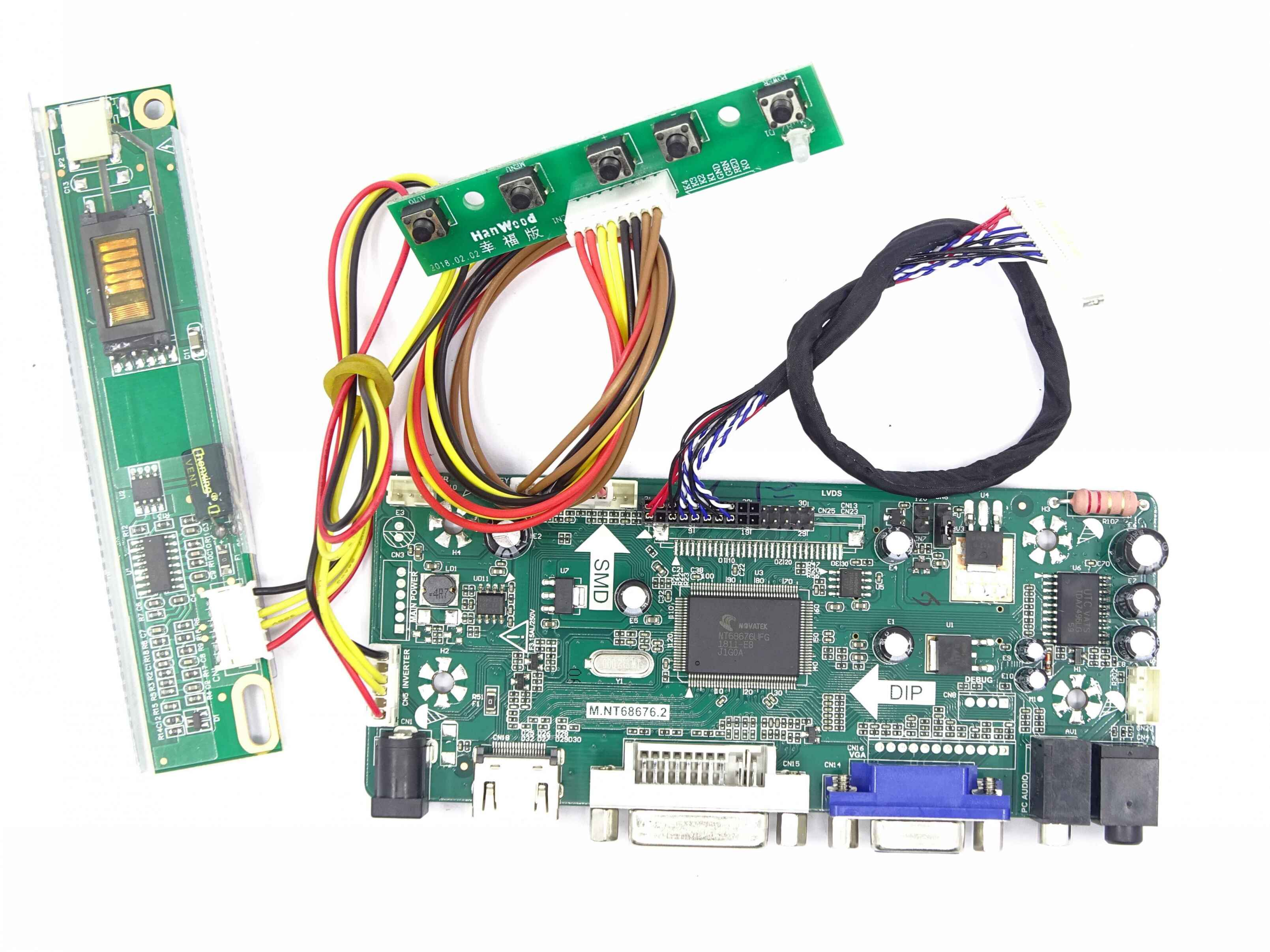 VGA LCD LED LVDS Driver Controller Board Kit per QD15TL02 HDMI DVI