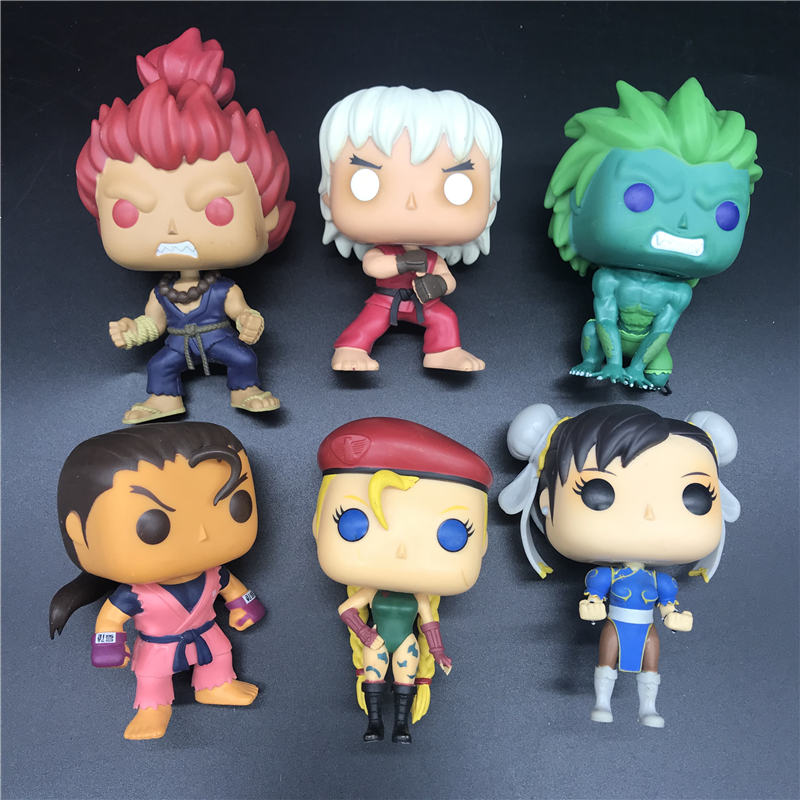 Pops Games Fighters Character model Streets toy BLANKA/ CAMMY/ AKUMA/VIOLENT KEN/CHUN LI/DAN/Favorite toy best gift image