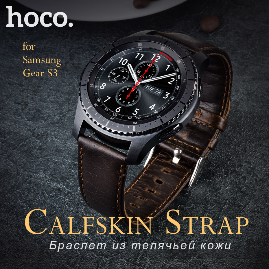 Original HOCO Classic Genuine Leather Bracelet for Samsung Gear S3 Brown Strap Buckle For Smart Watch