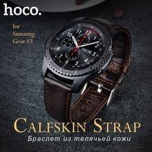 Оригинал носо классический натуральная кожа браслет для samsung gear s3 коричневый ремень пряжка для smart watch ремешок коричневый стальной пряжкой