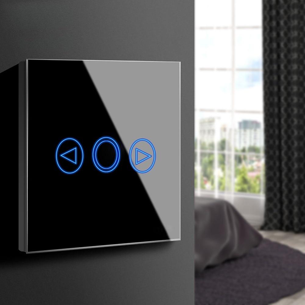 Écran tactile Capteur LED Variateur de lumière 220 v Norme EUROPÉENNE ROYAUME-UNI Mur Intelligent Tactile Commutateur Panneau de Verre interrupteur Module remoter Contrôle