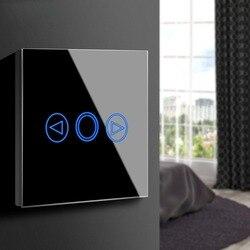 Сенсорный экран Сенсор светодио дный свет диммер 220 В ЕС Великобритания Стандартный стены Smart touch переключатель Стекло Панель выключатель с...
