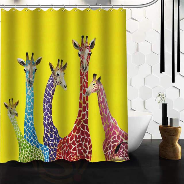 Designs Clara Nilles Jellybean Giraffes Shower Curtain,60 X72 48x72 Inch  Free Shipping.