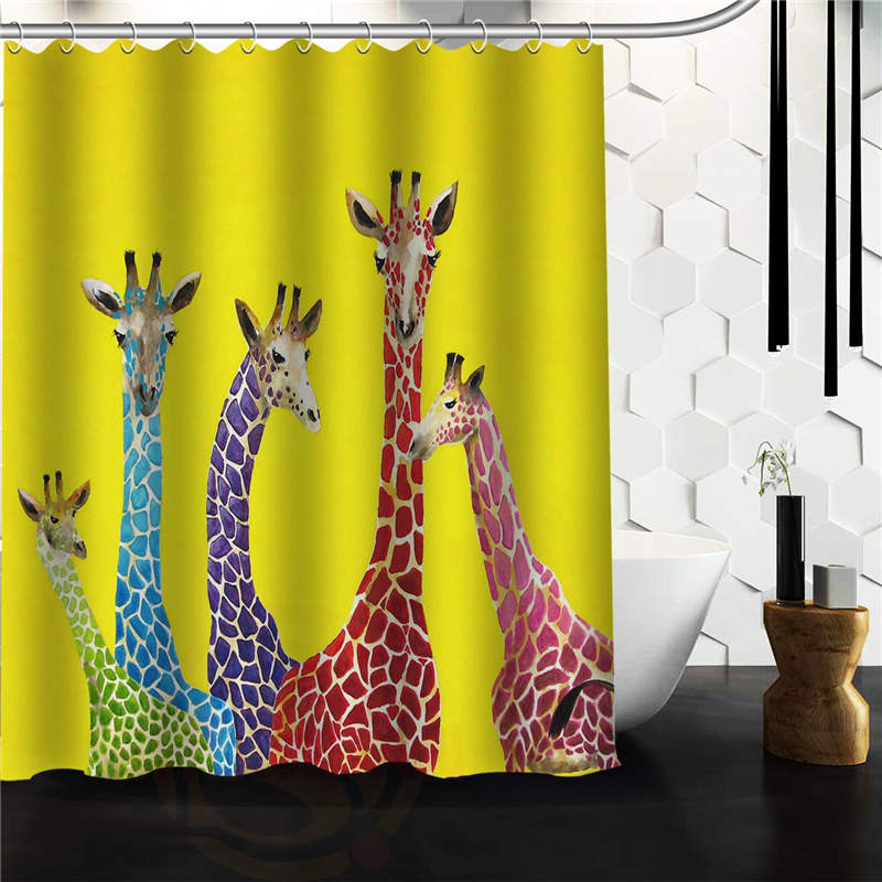 Designs Clara Nilles Jellybean Giraffes Shower Curtain,60 X72 48x72 Inch  Free Shipping.(