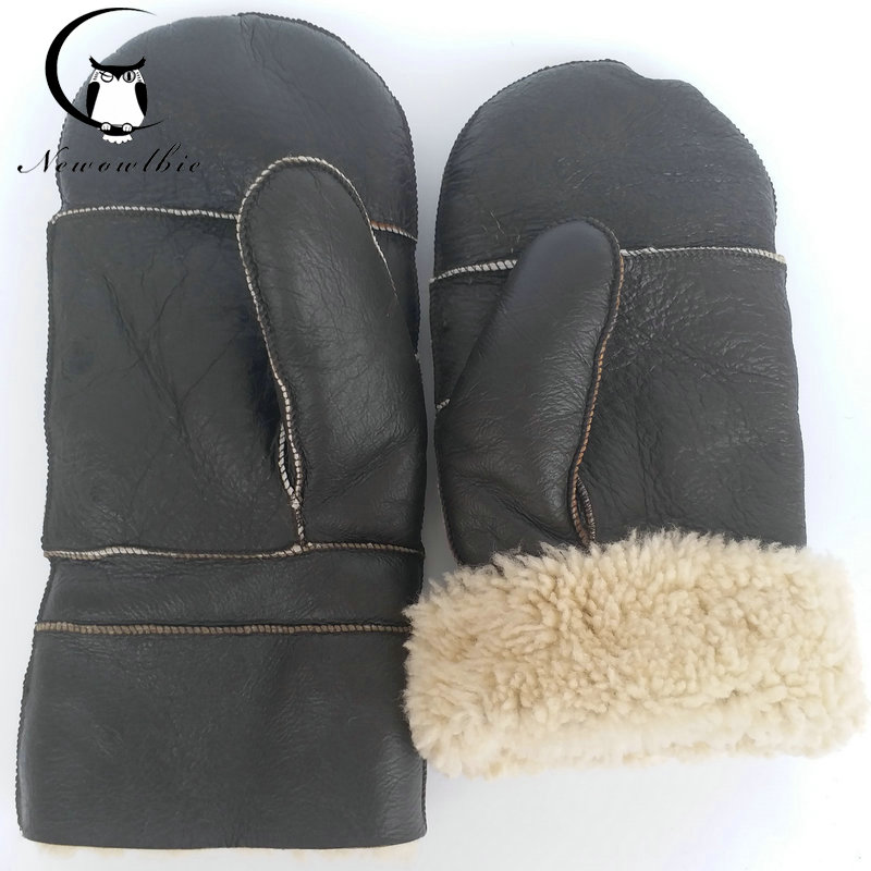 New 2019 Extra Large  Sheepskin Gloves Luva Thickened,enlarged ,pure Natural High Quality Sheepskin Gloves,baseball Gloves,warm
