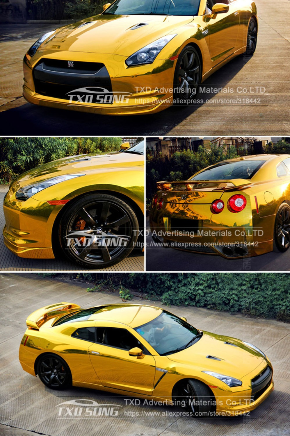 Image 4 - Premium quality stretchable mirror gold Chrome Mirror flexible Vinyl Wrap Sheet Roll Film Car Sticker Decal Sheet-in Car Stickers from Automobiles & Motorcycles