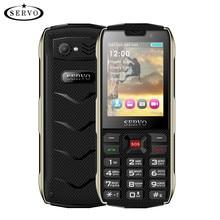 SERVO H8 teléfono móvil 2,8 pulgadas 4 Tarjeta SIM 4 espera Bluetooth linterna GPRS 3000 mAh Power Bank teléfono ruso idioma del teclado