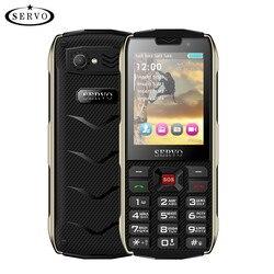 Telefone móvel servo h8 2.8 polegada 4 cartão sim 4 standby bluetooth lanterna gprs 3000 mah telefone do banco de potência teclado da língua russa