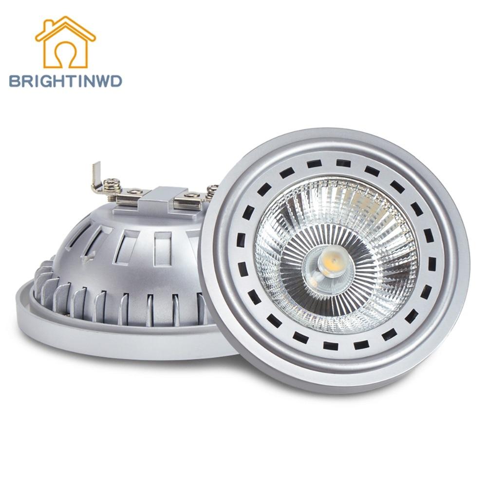 BRIGHTINWD AR111 Reflektory LED COB G53 GU10 Lampa światła DC12V AC110V 220V 12W 15W Żarówka Zimny biały ciepły biały cena fabryczna