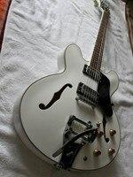 Wholesale G Cnbald Jazz Guitar 1959 ES 335 ES355 Electric Guitar Bridge Bigsby In White ES