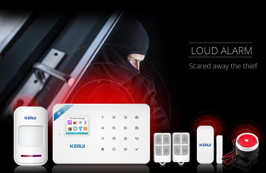 Wireless WiFi GSM Alarm System Android iPhone APP Control home Security Alarm System compatable with Anti pet PIR motion sensor_05