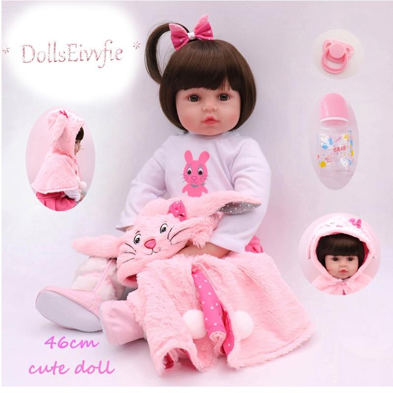 DollsEivvfie 46CM silicone baby rebirth doll super realistic soft cotton body doll Reborn Bebe Brinquedos boy