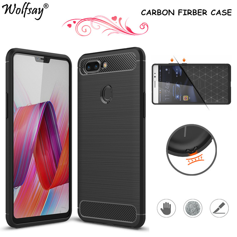 Wolfsay Phone Cover Oppo R15 Case Oppo R 15 6.28 Shockproof Soft Rubber Silicone Coque sFor Oppo R15 Case Anti-Slip Phone Shell