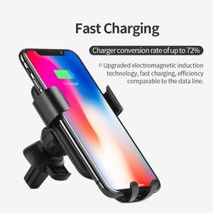 Image 5 - 高速オンチップ · オシレータユニバーサルカーチーワイヤレス充電器 iphone Xs 最大 XR × 8 プラス急速充電高速無線車マウントホルダーサムスン S9 S8 2018