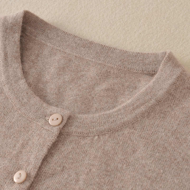 100% Cashmere Sweater for Women Winter&Spring O-neck High Quality Cardigans Lady Hot Sale Pure Cashmere Knit Outwear Clothes