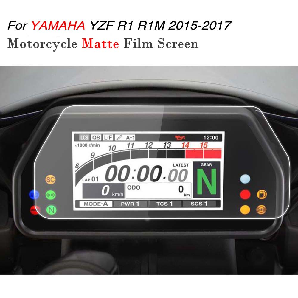 KEMiMOTO For YAMAHA YZF R1 R1M 2017 accessories Cluster Scratch Speedometer Film Screen Protector R1 YZF-R1 R1M 2015 2016 2017