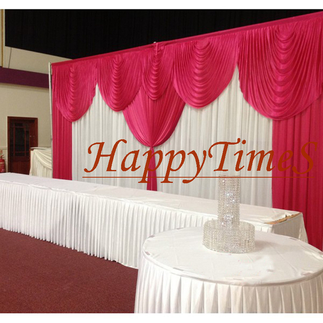 boda decoracin de la boda y fiesta cortina con desmontable de la boda del swag drap