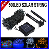 50M 500 LED Solar Powered Light Outdoor String Fairy Holiday Xmas Wedding Party Garlands Garden Decoration