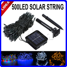 50M 500 LED Solar Powered Outdoor Wedding Navidad String Fairy Solar Lamps Garden Decoration Garlands LED Christimas HK C-31